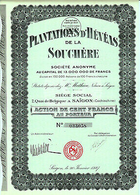 Indochine / Saigon / Lot : 2 X Plantations D'heveas De La Souchere 1927