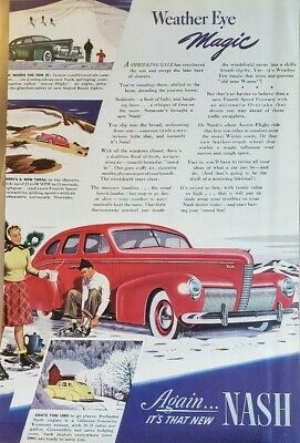 NASH CAR ADS  - Nine in All - Excellent Conditions