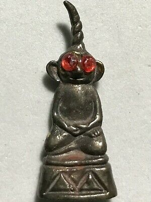 Ngang Charm Phra Lp Rare Old Thai Buddha Amulet Pendant Magic Ancient Idol#19