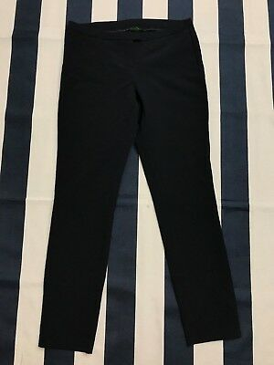 ☕United Colors of Benetton Women Navy Dress Pants Size 4 Trouser Slacks☕