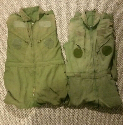 Lot Of 2 Canadian Air Force Flight Suit Coveralls RCAF Black Friday Sale Sz 7344