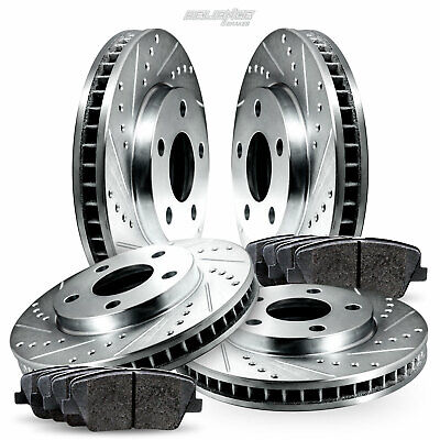 Full Kit Cross-Drilled Brake Rotors and Ceramic Brake Pads BLXC.35079.02