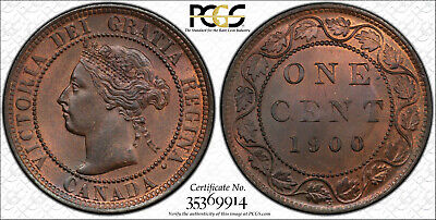 Canada, 1900 - H Victoria Cent. PCGS MS - 64 RB. 2,600,000 Mintage.