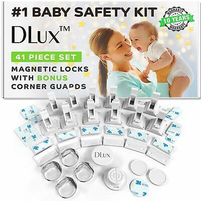 Magnetic Cabinet Locks Child Safety 41-Piece Kit with New Upgraded Adhesive