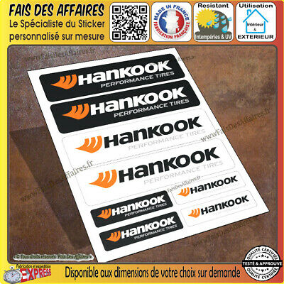 8 Stickers autocollant Hankook pneu performance tires planche sponsor tuning