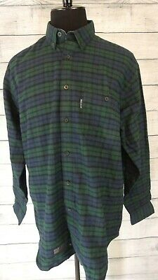 Mens Woolrich NWT Long Sleeve Green Plaid Flannel Shirt Size Large New With Tags