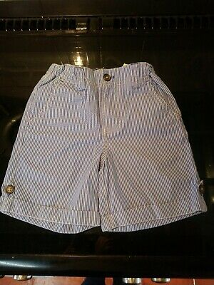 6 Years Mini Boden Blue Pinstripe Shorts