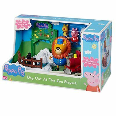 Peppa Pig Peppa's Day Out At The Zoo Toy Playset & 3 Figures Set