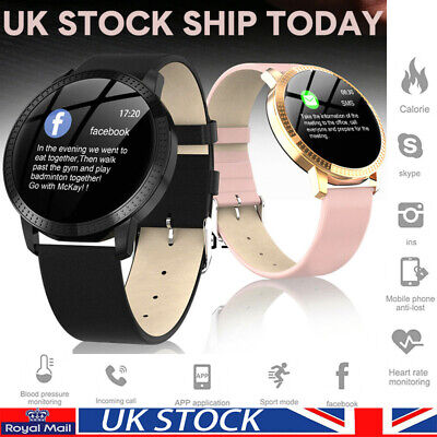 HD Display Heart Rate Bluetooth Smart Watch Blood Pressure For Android Fr iphone