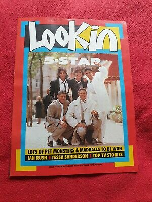 5 FIVE STAR - RARE COLOUR MAGAZINE POSTER A4 - Denise Pearson