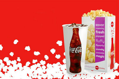 AMC Large Popcorn and Large Drink  Expires December 2020 Fast Delivery