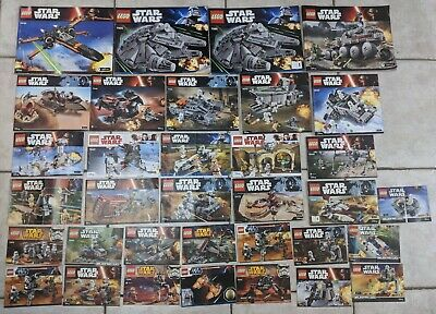 Lego Star Wars Instruction Manual Job Lot including 7965 Millenium Falcon