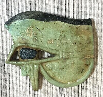 EYE OF HORUS Blue-Green Faience_3rd Intermediate Period 1075-716 BC_& Papers