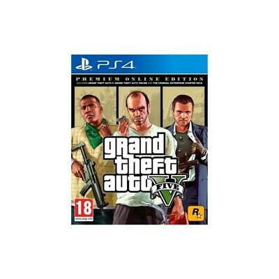 ⭐Take 2 Ps4 Gta Grand Theft Auto 5 - Premium Online Edition Eu [99833]