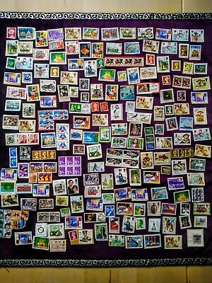 Job Lot of Mixed Used Random Stamps, 210 Items, UK, International, Foreign