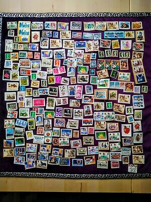 Job Lot of Mixed Used Random Stamps, 215 Items, UK, International, Foreign