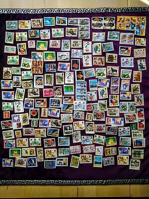 Job Lot of Mixed Used Random Stamps, 230 Items, UK, International, Foreign