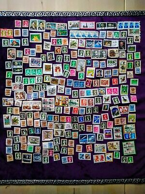 Job Lot of Mixed Used Random Stamps, 260 Items, UK, International, Foreign