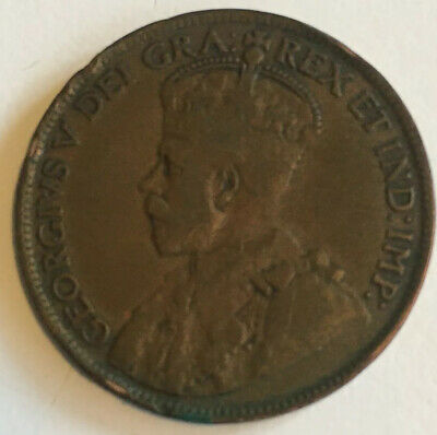 🇨🇦 Canada 1920 Large One Cent Coin - King George V
