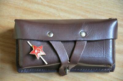 USSR Original Leather Soviet Russian Military Genuine SKS 45 Carbine Ammo Pouch