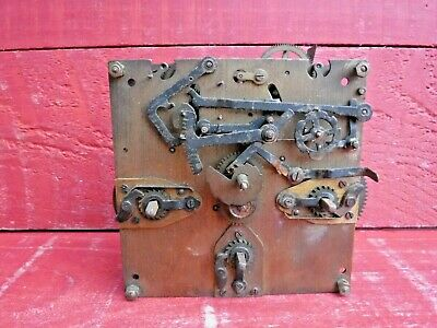 Vintage Clock Movement, Spares Or Repair Enfield Clock Company London, Steampunk