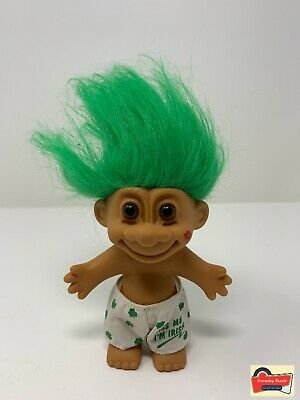 "Rare LEPRECHAUN PENCIL SAYING /""KISS ME I/'M IRISH/"" Russ Troll Doll NEW"