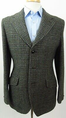 DUNN & CO Great Britian Harris Tweed Sport Coat Blazer, 40R, Multi-Color Tweed