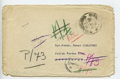 Poland GB 1945 cover from Polish Red Cross London to Polish Forces P/20 (M325)