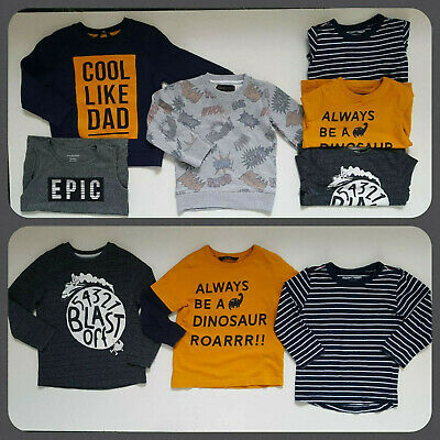 Smart Bundle of 6 Boy Next George Tu Jumper Tops Age 2-3 Years 98cm