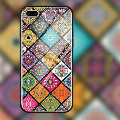 iPhoneX XS Max XR 11 pro MAX Case Cover Tempered Glass Bohemian style
