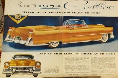 CADILLAC 1954  1955 / 1956 CAR ADS - Ten in All - Excellent Conditions
