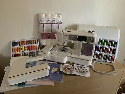 brother nv950 innovis embroidery machine brand new with software,threads more