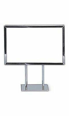 """Counter top Metal Signs Display Holder Stand Chrome 10""""H x 7-1/2""""W Lot of 10"""