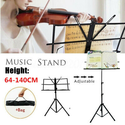 Height Adjustable Folding Music Orchestral Holder Tripod Stand with Carry Bag