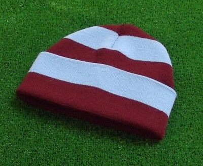 West Ham Colours Retro Bar Hat - Claret & Blue - Made in UK