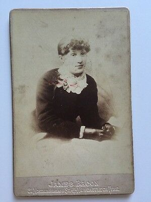 Victorian Photo: Cabinet Card - Bacon  - Newcastle On Tyne - Lady