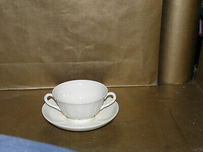 wedgwood queens ware queens shape / plain soup coupe / cup and saucer