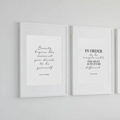 Coco wall art x 2 - dressing room prints - Handwritten font