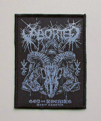 ABORTED - God Of Nothing - Official Woven Patch