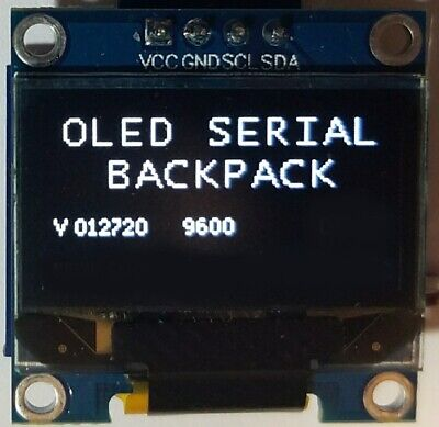"0.96"" I2C OLED Display WITH Serial Backpack Board RS232 Async Interface Driver"