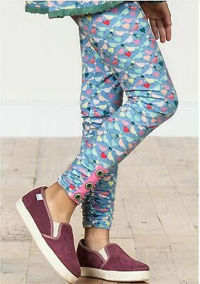 Matilda Jane Repeat After Me Leggings Birds Hearts Print Size 4 NWT