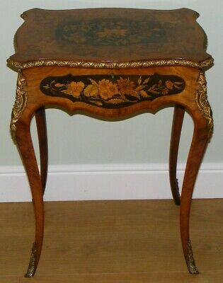 Good Quality Antique French Walnut And Kingwood Work Table