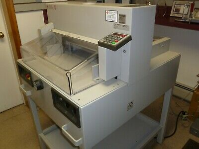 MBM Triumph Model 4850-95 EP Paper Cutter (used,see video)  two NEW knives