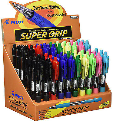 Lot Stylos à bille PILOT Super Grip - 60 unités assorties