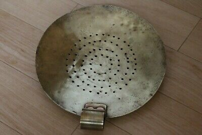 Vintage Brass Sieve / Scoop.