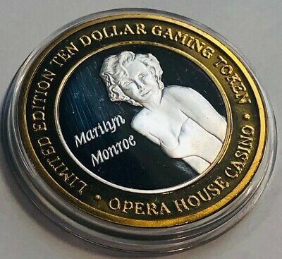 Opera House Casino $10 Silver Strike Token 1997 Marilyn Monroe Harder to Find
