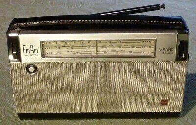 Radio transistor AM-GO-FM NATIONAL T-82L 1962 panasonic solid-state vintage tsf