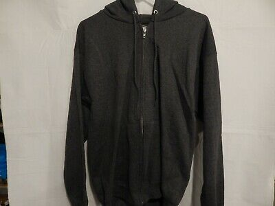 Mens Hanes Ultimate Light Weight Zipper Hoodie With Pockets