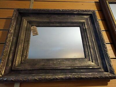 Gothic painted wall mirror with thick ornate frame Annie Sloan Purple Black