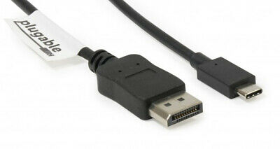 Plugable Technologies USBC-DP 1.8m USB 3.1 Type-C Displayport Black video cab...